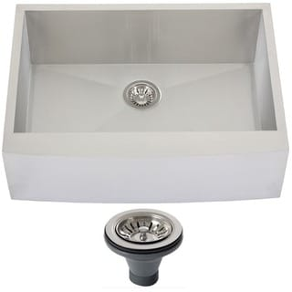 Ticor 4410BG-DEL 30-inch 16-gauge Stainless Steel Curved Front Farmhouse Apron Kitchen Sink