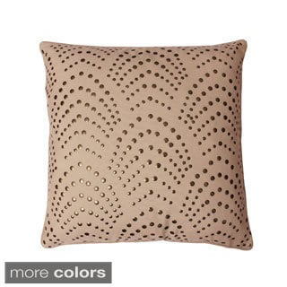 Studded Deco 20-inch Feather Filled Throw Pillow