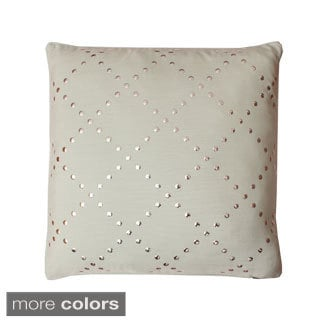 Lars Lattice 20-inch Feather Filled Throw Pillow
