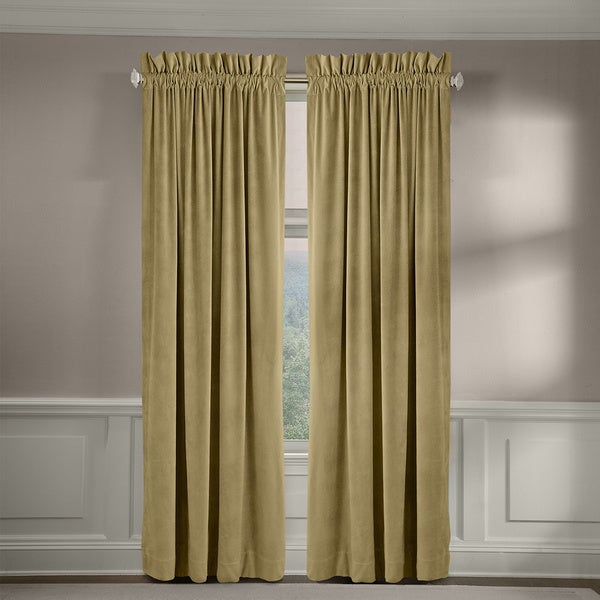 Grand Luxe Velvet Luxury Rod Pocket Window Panel