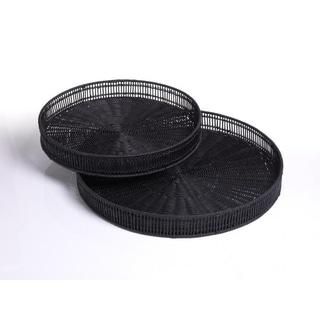 Straight Weave Round Trays