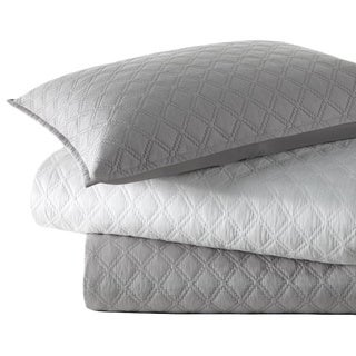 Vera Wang Step Edge Diamond Cotton 3-piece Coverlet Set