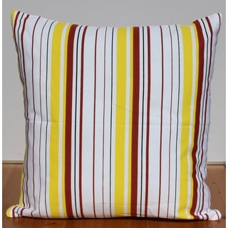 Colorful Printed Stripe Decorative Throw Pillow