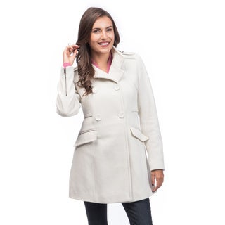 Maralyn & Me Women's Fitted Double Breasted Coat