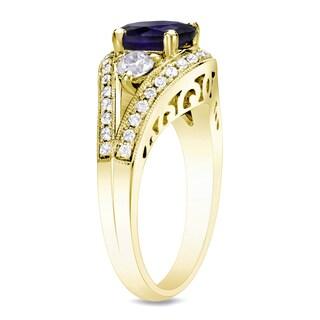 Auriya 14k Gold 3/4ct TDW Sapphire and Diamond Engagement Ring (H-I, SI1-SI2)
