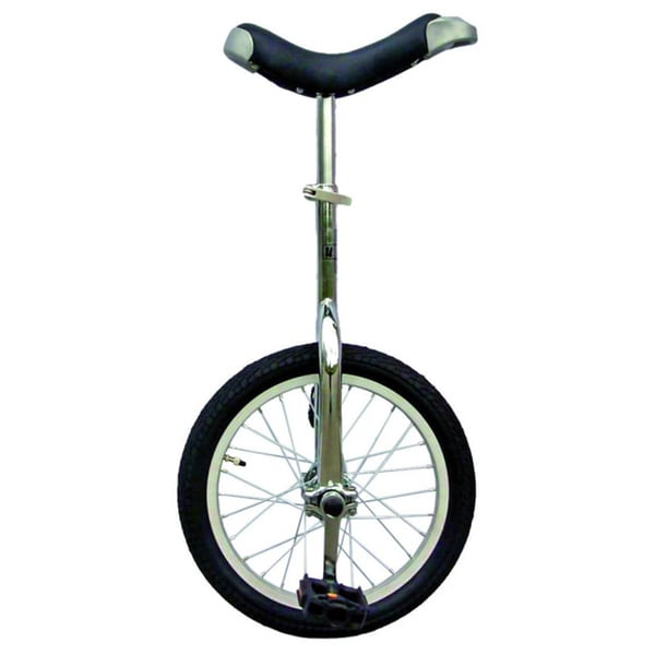 Chrome 16-inch Unicycle with Alloy Rim