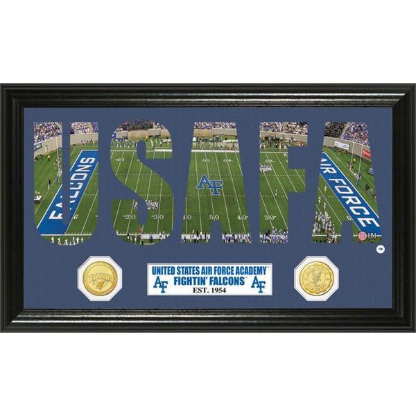 U.S. Air Force Academy Word Art Panoramic Photo Bronze Mint Coin
