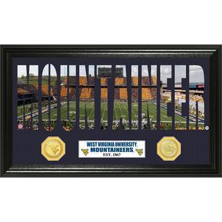 West Virginia University Word Art Panoramic Photo Bronze Mint Coin