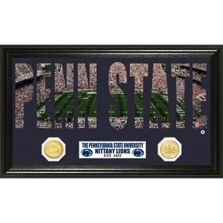Pennsylvania State University Word Art Panoramic Photo Bronze Mint Coin