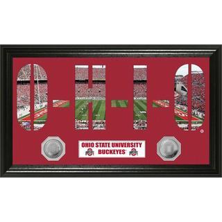 Ohio State University Word Art Panoramic Photo Mint Coin