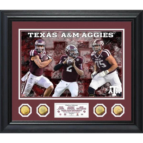 Texas A&M 1st Round Draft Picks Special Edition Photo Mint Gold Coin