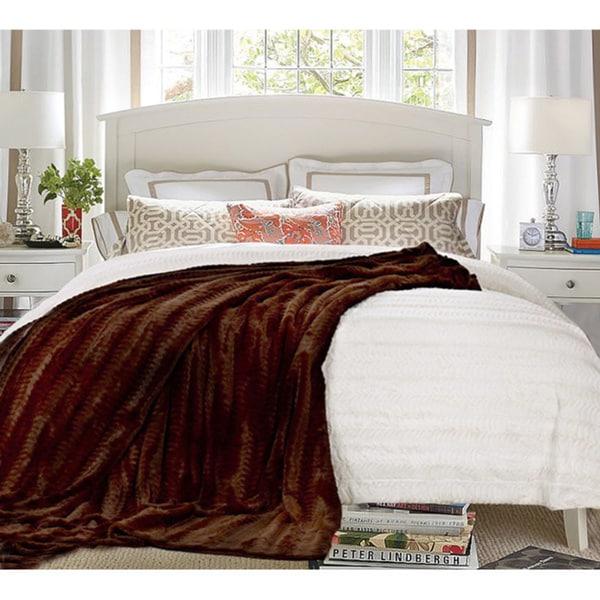 Luxe Double-sided Faux Mink Blanket