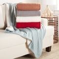 Brielle Cozy Cable Knit Throw with Sherpa Lining