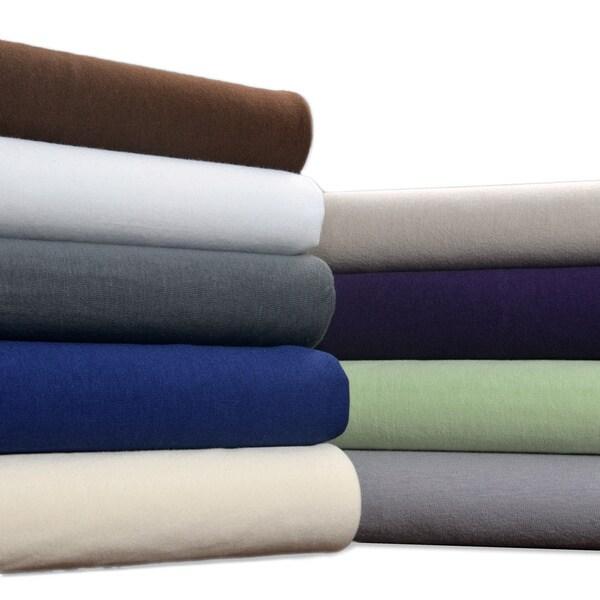Brielle Jersey Knit Cotton Sheet Set or Pillowcase Separates