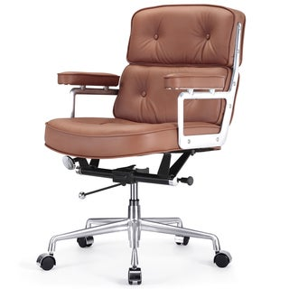 Cinque Brown Italian Leather Office Chair