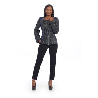 Hadari Women's Fierce Grey Zipper Jacket