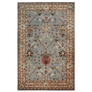 Oh! Home Rosedown Ice Blue/ Beige Area Rug (4' x 6')