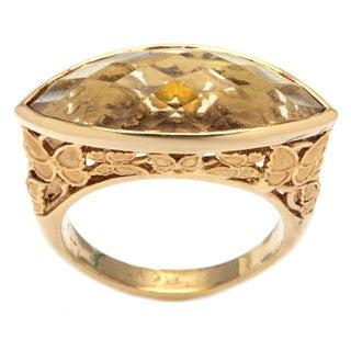 Carrera y Carrera 18k Yellow Gold Citrine Estate Ring