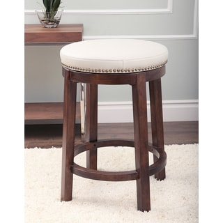Monica Pedersen Ivory Round Swivel Counter Stool by Abbyson Living