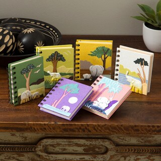 Mr. Ellie Pooh Hand-crafted Light Green Dinky Journal Stocking Stuffer (Sri Lanka)