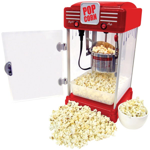 Red Movie Theatre Table Top Popcorn Machine