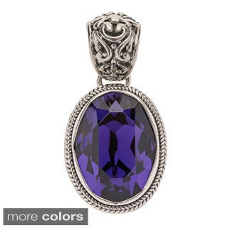 Swarvoski Crystal Sterling Silver Pendant