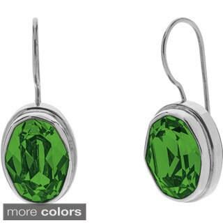 Swarvoski Crystal Sterling Silver Wire Earrings