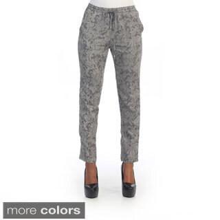 Hadari's Women's Paisley Pattern Straight Pants