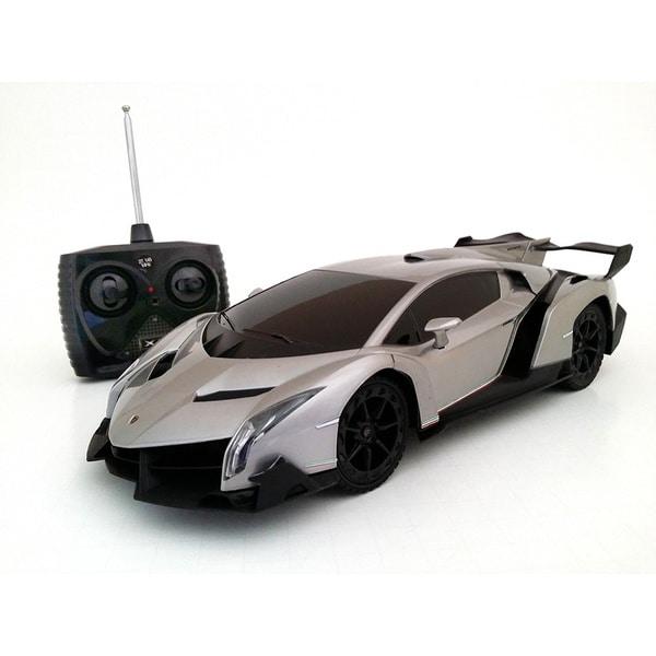 Lamborghini Used Cheap: Grey Lamborghini Veneno 1:18-scale Remote Control Supercar