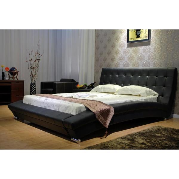 Black Arch Platform Bed