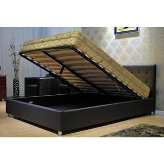 Black Storage Platform Bed