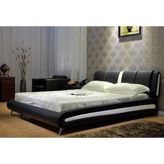 Two-tone Black / White Platform Bed