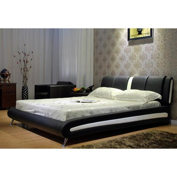 Two-tone Black / White Platform Bed