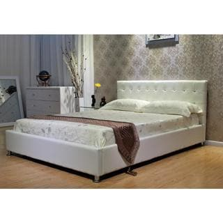 White Storage Platform Bed