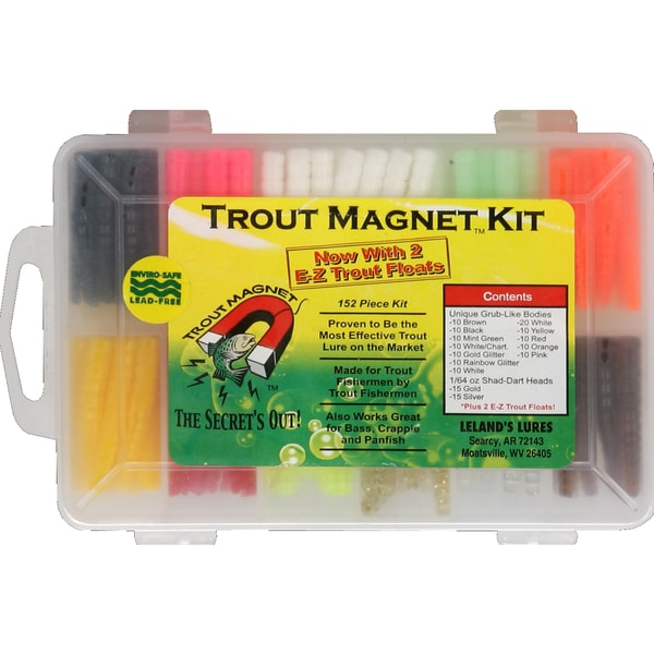 Leland Lures Trout Magnet Lead Free 152-piece Trout Magnet Kit