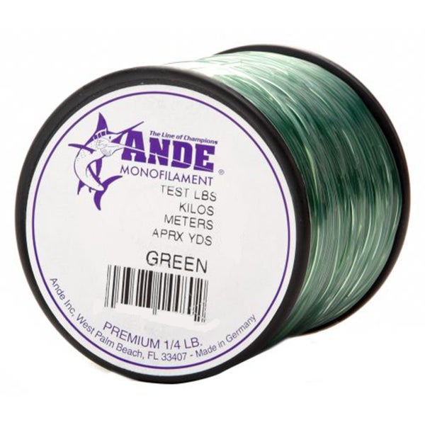 Ande premium green monofilament fishing line for Ande fishing line