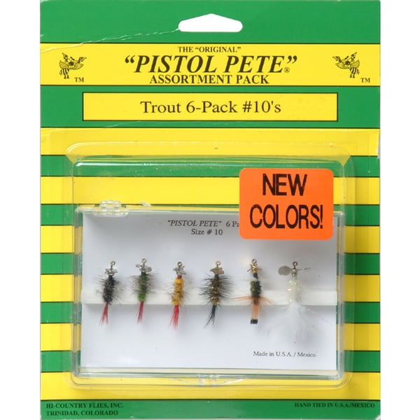 Pistol Pete Size 10 Trout Lure (Pack of 6)