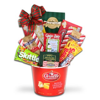 Holiday Movie Night Gift Basket