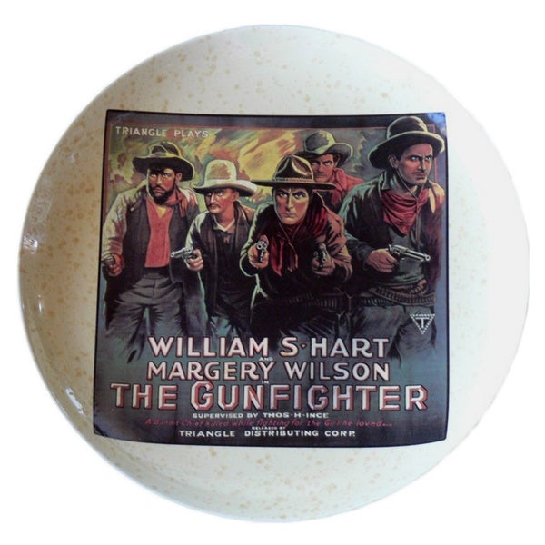 William Hart 15-inch Western Movie Poster Platter