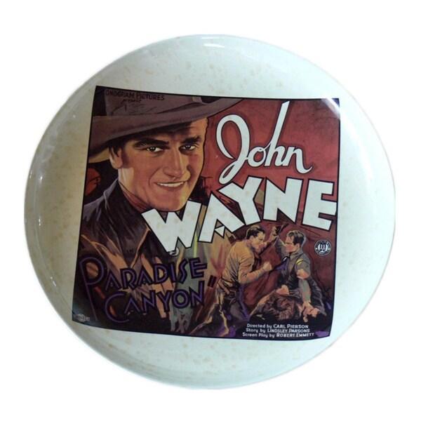 John Wayne 15-inch Western Movie Poster Platter