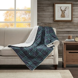 Woolrich Brewster Softspun Down Alternative Filled Oversize Throw