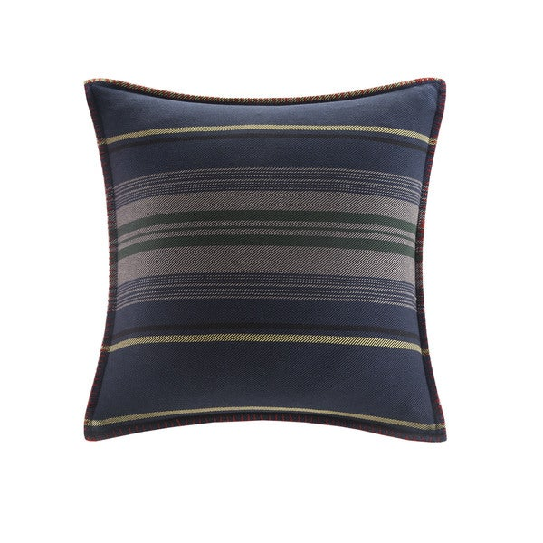 Woolrich Deep River Yarn Dyed Stripe Square Pillow