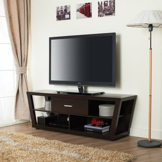 Furniture of America Espresso Stannise Modern 60-inch Entertainment Console