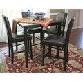 Baxton Studio Love Dark Brown Faux Leather Counter Stools (Set of 2)