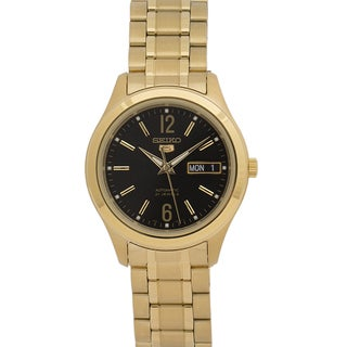 Seiko Men's 5 Series SNKM60 Goldtone Stainless Steel Watch