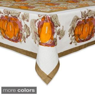 Couleur Nature Pumpkin Harvest Square Cotton Tablecloth