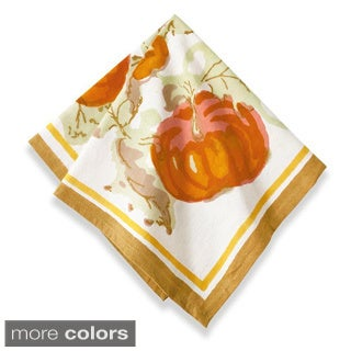 Couleur Nature Harvest Pumpkin Square Cotton Napkin (Set of 6)