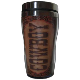 Cowboy 16-ounce Travel Mug (Set of 4)