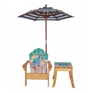 Kid's Winland Sand Pail Wood Outdoor Table and Chair Set