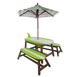 Kid's Winland-surfboard Outdoor Table and Bench Set